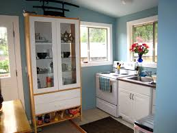 Laundry Room In Kitchen Kitchen Tiny Kitchen Idea That Doubles As Laundry Room With Blue