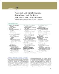 PDF) McDonald RE, DR Avery, JK Hartsfield Jr: Acquired and Developmental  Disturbances of the Teeth and Associated Oral Structures. In: Dentistry for  the Child and Adolescent, ninth edition. JA Dean, DR Avery,