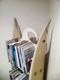 surfboard furniture. Forget IKEA - My Mates Dad Split One Old Surfboard Down The Stringer And Then Cut Another Up For Shelves. 2 Bolts In Sides Wol~lah A Brand New Furniture R