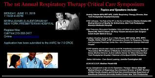 1st Annual Respiratory Therapy Critical Care Symposium
