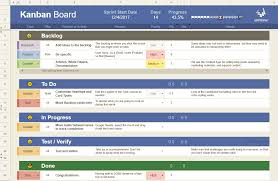 Kanban Board Template For Agile Pm