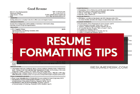 Best Fonts To Use For Resume Best Significant Tips How To Format Your Resume Resumeperk
