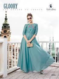 Designer Kurtis Wholesale Online Shopping Ladies Flavour Diss Miss Gown Style Kurtis Wholesale Catalogue