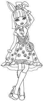 Small Picture Free Printable Ever After High Coloring Pages Bunny Blanc