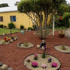 rock garden patio ideas my new landscaped yard with lava rocks and small flower beds