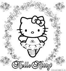 Free Printable Hello Kitty Colouring Pages