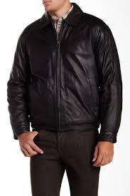 image of nautica genuine leather er jacket