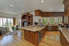 open kitchen living room floor plan. Room Floor Open Plan Between Kitchen Dining Living F