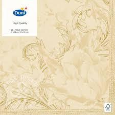 Купить <b>Салфетки бумажные Duni</b> Charm Cream 3 слоя 33*33см ...