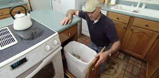 Joe Truini With Homemade Pullout Kitchen Trash Can