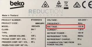 How Much Power A Fridge Uses In Watts Cost Kwh
