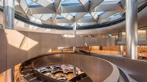 The centrepiece of Bloomberg's interior is a spiralling ramp spanning  nearly 700 feet and six floors