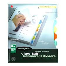 8 tab template wilson jones tab dividers template