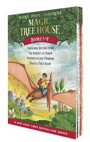 Tree House Photos Magic Tree House Boxed Set Books 1 4 Dinosaurs Before Dark The