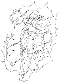 Coloriage Dragon Ball Z Sangohan Super Saiyan 2 Ancenscp