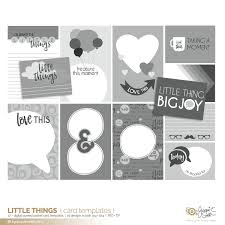 Little Things Pocket Card Templates