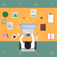 Top office table cup Coffee Photostock Vector Businessman In Workplace With Office Table Top View Cup Of Coffee Digital Tablet Smartphone Usb Hub Shopatcloth Photostock Vector Businessman In Workplace With Office Table Top