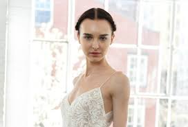 The Victorias Secret model wedding dress is sheer perfection.