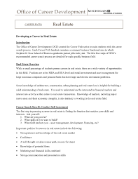 Realtor Resume Sample Experience Letter Format For Real Estate Copy Real Estate 44