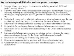 Project Manager Duties Job Description Project Manager Pdf Best Resume And Letter Cv
