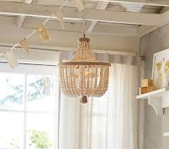 pottery barn rachel ashwell vintage pink bead chandelier view in room alternate view alternate view