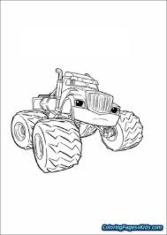 Blaze And The Monster Machines Printable Coloring Pages Free