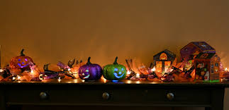 fireplace mantel lighting. halloween pumpkin accessories ideas featuring assorted lighting fireplace mantel