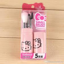 mini o kitty pink makeup brush set cosmetic tool eyeshadow lip blush kt brush pincel maquiagem portable make up brushes kit set makeup artists makeup