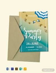 Beautiful Pool Party Invitation Templates Word Pictures