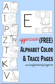 Small Picture FREE Uppercase Alphabet Color Trace Pages