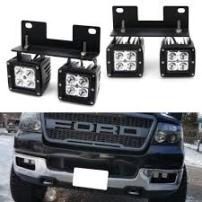 2006 Ford F150 Fog Light Bulb Size Dual Led Pod Light Fog Lamp Kit For 2004 06 Ford F150 06 Lincoln Mark Lt 4 20w Cree Led Cubes Foglight Location Mounting Brackets Wiring