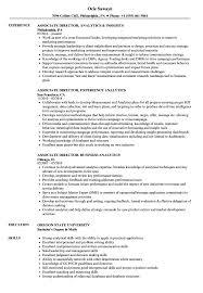 Associate Analytics Director Resume Samples Velvet Jobs