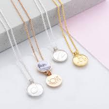 mini initial locket pendant