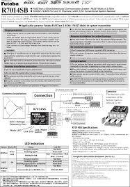 Futaba Receiver Chart R7014sb 24g Radio Control User Manual Futaba