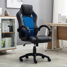 Belleze Racing High Back Office Chair PU Leather Computer Desk ...