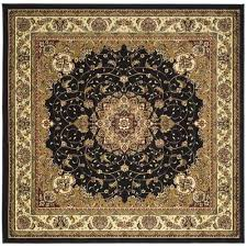 safavieh lyndhurst black area rug 7 x 7 square