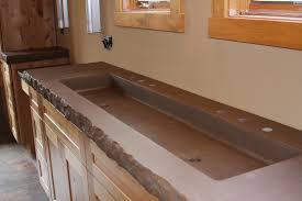 cement trough bathroom sink ideas