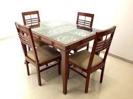 glass top dining table tables modern contemporary rectangular with wooden