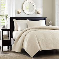 madison park quebec twin twin xl size quilt bedding set ivory damask 2