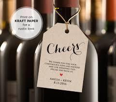 Diy Wine Bottle Labels Cheers Wine Tag Wedding Favor Tag Wedding Table Wine Diy
