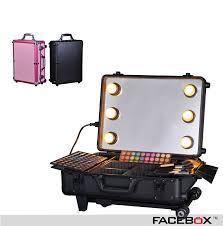 makeup artist on the go case プロフェッショナル ポータブル トロリー ケース メイクアップアーティスト ファッション化粧品ツール収納ボックス で facebox