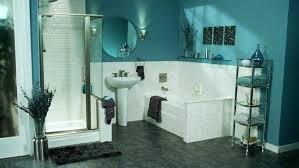 white and teal bathroom blue walls black and white bathroom decor
