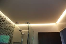 Ceiling Led Lighting Strips Led Strip In Bathroom Ceiling It Used As Main Light