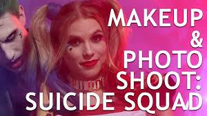 squad harley quinn and joker makeup and photo shoot