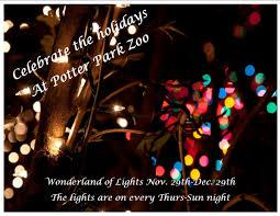 Christmas Lights At Potter Park Zoo Wonderland Of Lights At Potter Park Zoo Th Su Nights 5pm