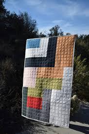 abstract modern toddler quilt minimalist baby blanket crib bedding quilted 100 cotton geometric gender neutral
