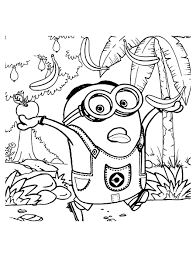 Les Minions Chasse Aux Bananes Coloriage Minions Coloriages