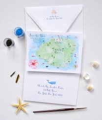 Map Save The Date Kauai Wedding Save The Date Mospens Studio