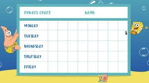 Spongebob Reward Chart Reward Chart Template Potty
