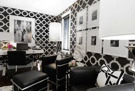 black and white office. Black And White Office